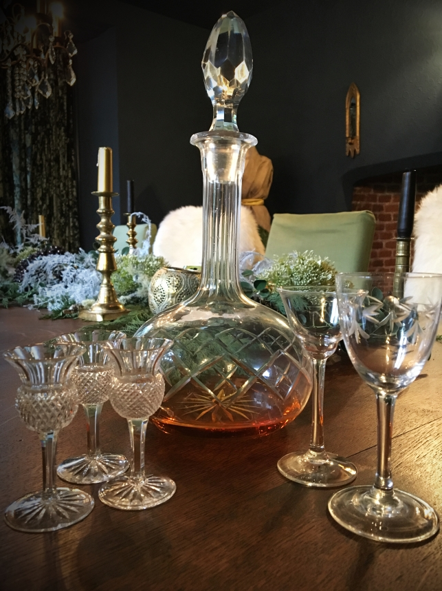 Vintage sherry decanter