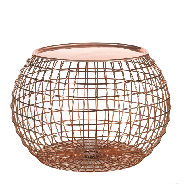 MiaFleur- Copper Wire Side Table £172